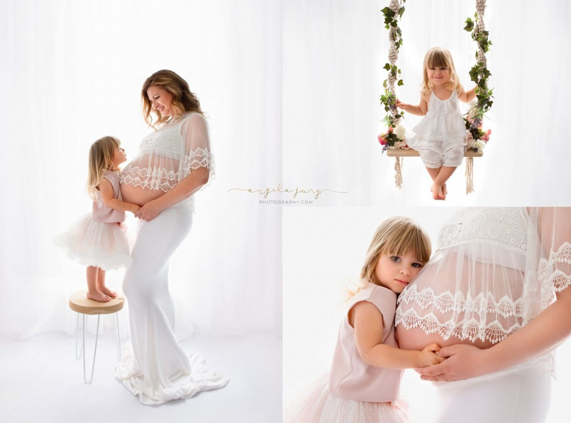 Makeup and hair stylist for family portraits and pregnancy photography